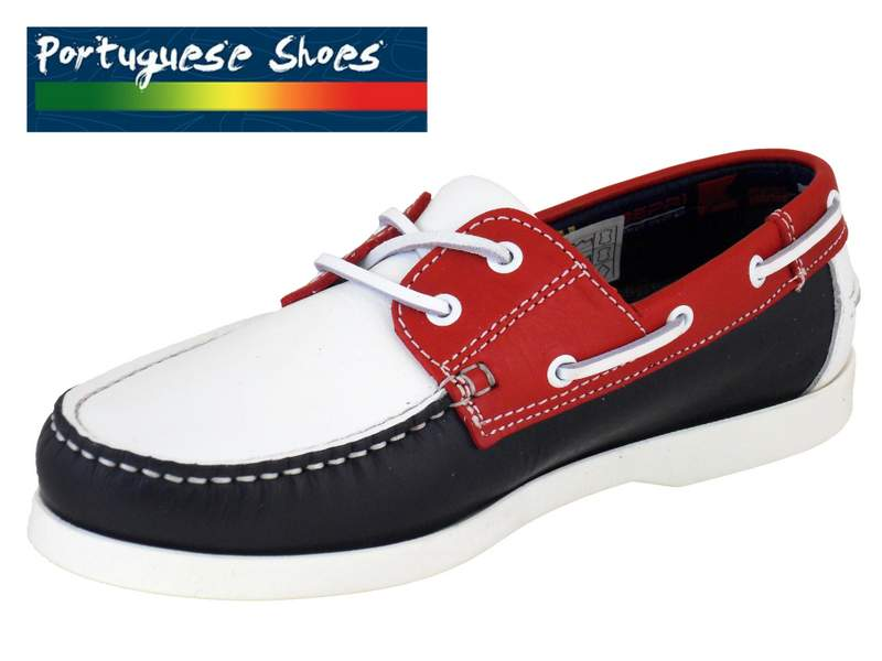 quality leather boat shoes in white blue