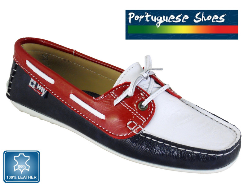Fantastic Red White Blue Boat Shoes SIZE 3