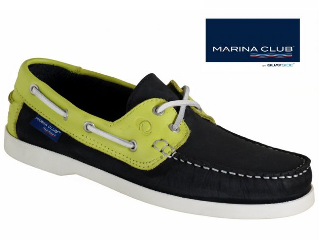 Navy/Lemon Ladies Boat Shoe