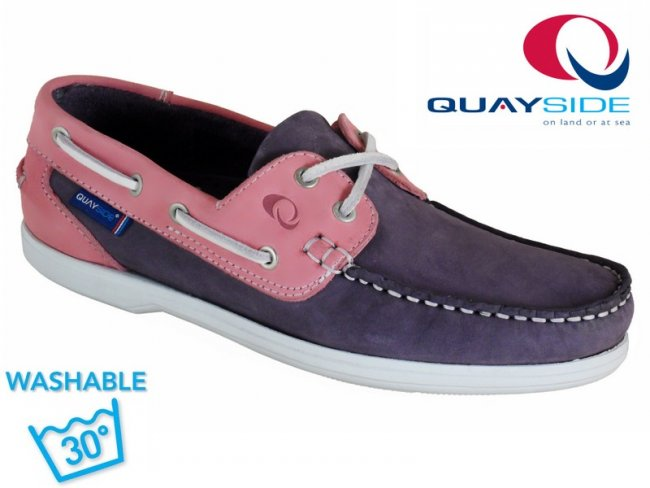 Bermuda Ladies Boat Shoe. MACHINE WASHABLE