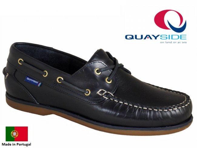 Quayside Ladies Clipper Deck Shoes in Navy