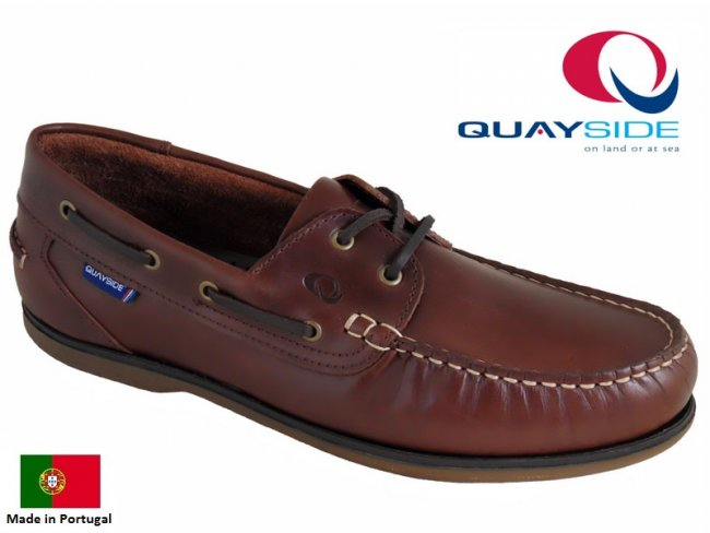 Quayside Ladies Clipper Leather Boat Shoes