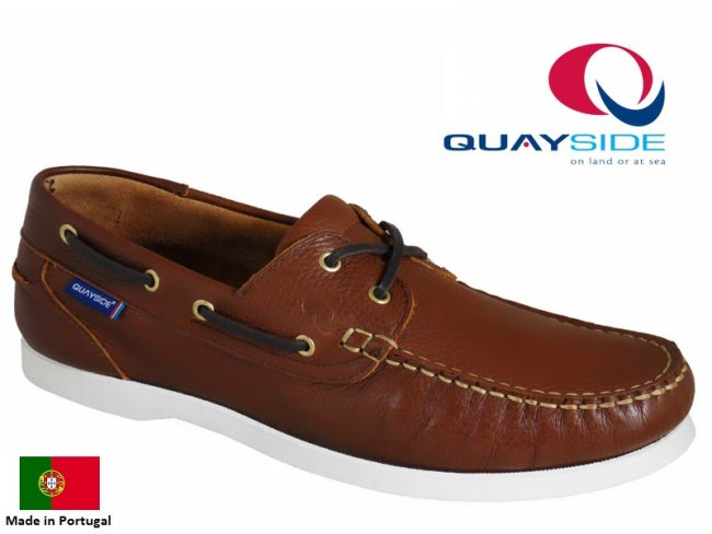 Alderney Tan Leather Boat Shoes (SIZE 9.5 ONLY)