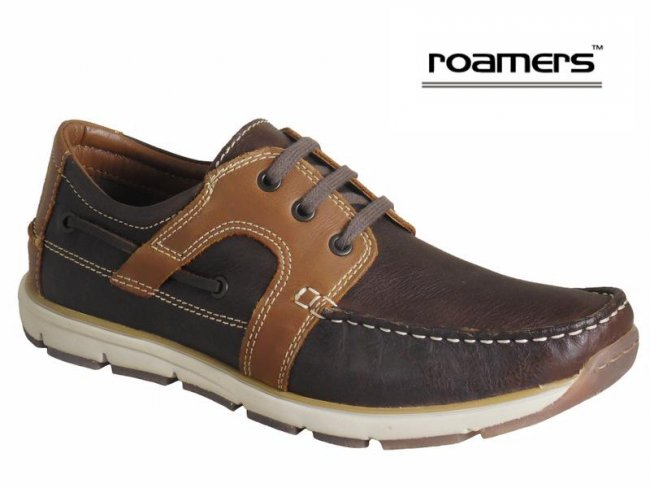 Roamers Superlite Leather Lace Boat Shoes Size 11