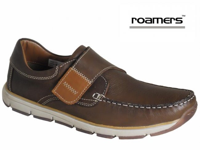 Roamers Superlite Leather Velcro Deck Shoes
