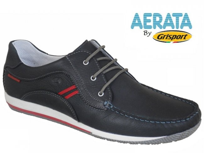 Aerata by Grisport Leather Lace Boat Shoes 7 & 8