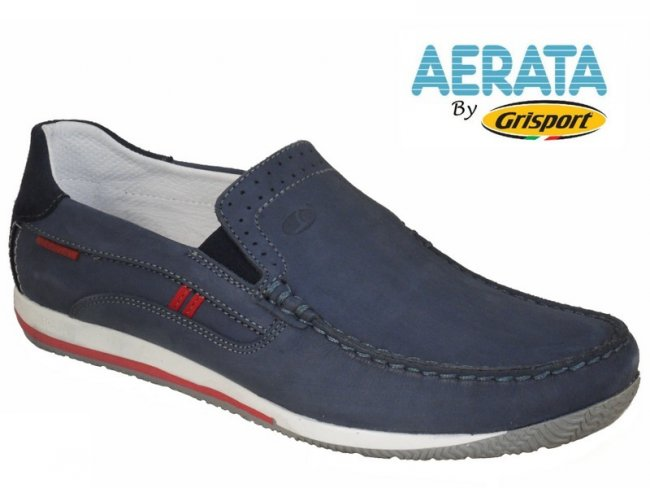 Aerata by Grisport Quality Slip On Leather Boat Shoes