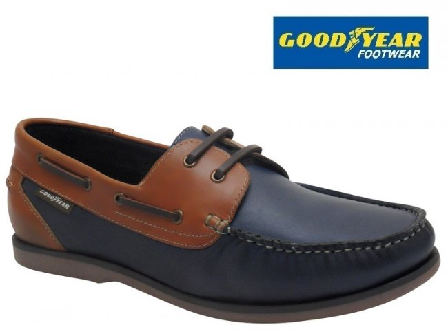 Goodyear Clipper Quality Leather Mens Deck Shoes