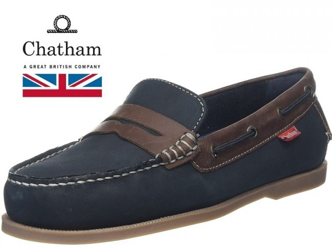 Cuba Premium Quality Navy/Brown Leather Boat Shoes