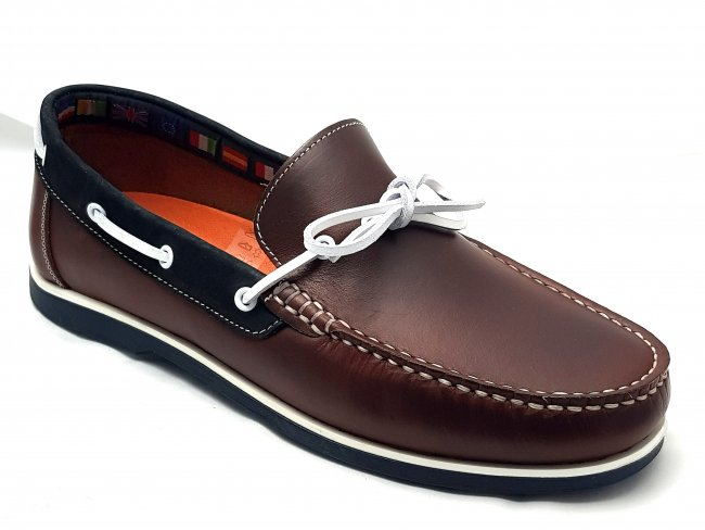 Mens Leather Loafer Slip on Boat Shoes