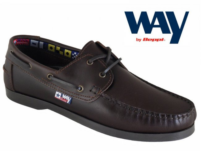 Mens Chestnut Leather Boat Shoe.