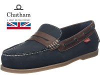 Cuba Premium Navy/Brown Leather Mens Boat Shoes