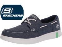 Skechers Glide Ultra Womens Boat Shoes Navy