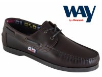Men's Chestnut Leather Boat Shoe. FREE DELIVERY